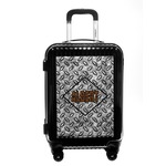 Diamond Plate Carry On Hard Shell Suitcase (Personalized)