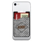 Diamond Plate Cell Phone Credit Card Holder (Personalized)