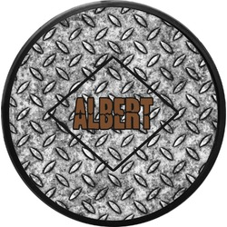 Diamond Plate Round Trailer Hitch Cover (Personalized)