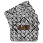 Diamond Plate Cork Coaster - Set of 4 w/ Name or Text