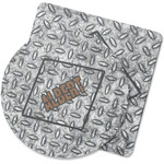 Diamond Plate Rubber Backed Coaster (Personalized)