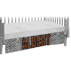 Diamond Plate Crib Skirt (Personalized)