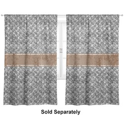 "Diamond Plate Curtains - 20""x84"" Panels - Lined (2 Panels Per Set) (Personalized)"
