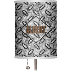 "Diamond Plate 7"" Drum Lamp Shade (Personalized)"