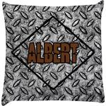 Diamond Plate Decorative Pillow Case (Personalized)