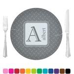 Diamond Plate Glass Lunch / Dinner Plates 10