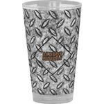 Diamond Plate Drinking / Pint Glass (Personalized)