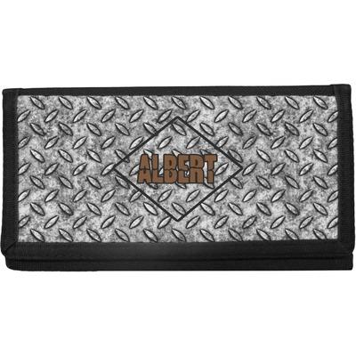 Diamond Plate Canvas Checkbook Cover (Personalized)