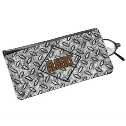 Diamond Plate Genuine Leather Eyeglass Case (Personalized)
