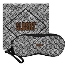 Diamond Plate Eyeglass Case & Cloth (Personalized)