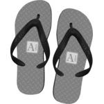 Diamond Plate Flip Flops (Personalized)