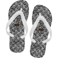 Diamond Plate Flip Flops - XSmall (Personalized)