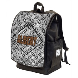 Diamond Plate Backpack w/ Front Flap  (Personalized)
