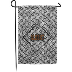 Diamond Plate Garden Flags With Pole - Single or Double Sided (Personalized)
