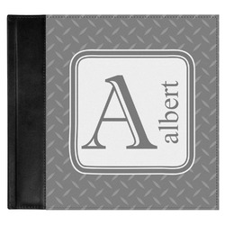 Diamond Plate Genuine Leather Baby Memory Book (Personalized)