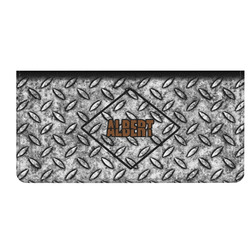 Diamond Plate Genuine Leather Checkbook Cover (Personalized)