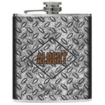 Diamond Plate Genuine Leather Flask (Personalized)