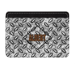 Diamond Plate Genuine Leather Front Pocket Wallet (Personalized)