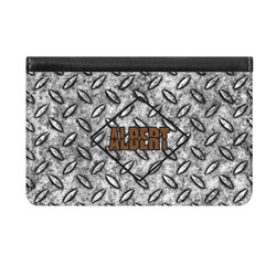 Diamond Plate Genuine Leather ID & Card Wallet - Slim Style (Personalized)