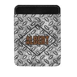 Diamond Plate Genuine Leather Money Clip (Personalized)