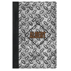 Diamond Plate Genuine Leather Passport Cover (Personalized)
