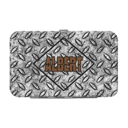 Diamond Plate Genuine Leather Small Framed Wallet (Personalized)