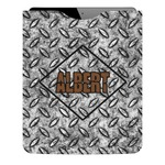 Diamond Plate Genuine Leather iPad Sleeve (Personalized)