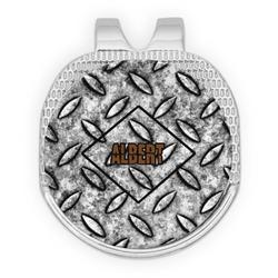 Diamond Plate Golf Ball Marker - Hat Clip