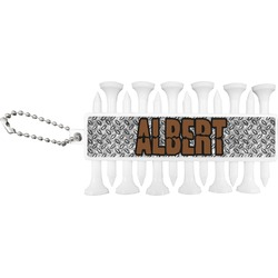 Diamond Plate Golf Tees & Ball Markers Set (Personalized)