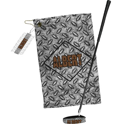 Diamond Plate Golf Towel Gift Set (Personalized)