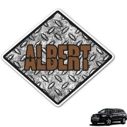 Diamond Plate Graphic Car Decal (Personalized)
