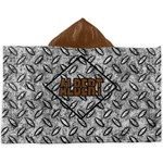 Diamond Plate Kids Hooded Towel (Personalized)