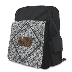 Diamond Plate Preschool Backpack (Personalized)