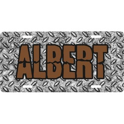 Diamond Plate Front License Plate (Personalized)