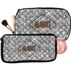 Diamond Plate Makeup / Cosmetic Bag (Personalized)