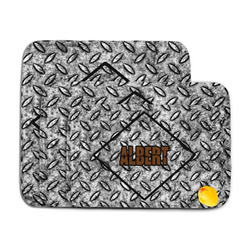 Diamond Plate Memory Foam Bath Mat (Personalized)