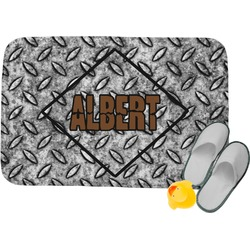 Diamond Plate Memory Foam Bath Mat (Personalized)