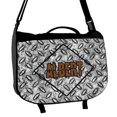 Diamond Plate Messenger Bag (Personalized)