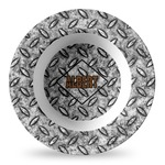 Diamond Plate Plastic Bowl - Microwave Safe - Composite Polymer (Personalized)