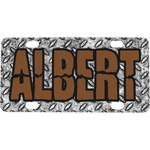 Diamond Plate Mini / Bicycle License Plate (Personalized)
