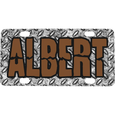 Diamond Plate Mini / Bicycle License Plate (4 Holes) (Personalized)
