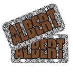 Diamond Plate Mini/Bicycle License Plates (Personalized)