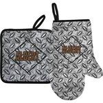 Diamond Plate Oven Mitt & Pot Holder (Personalized)