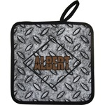 Diamond Plate Pot Holder w/ Name or Text