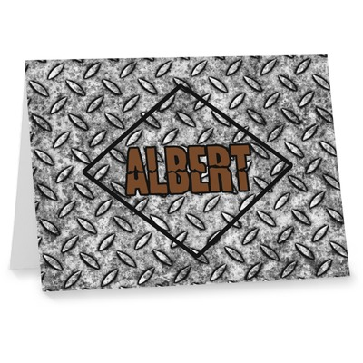 Diamond Plate Note cards (Personalized)