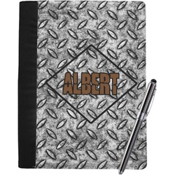 Diamond Plate Notebook Padfolio (Personalized)