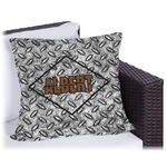 Diamond Plate Outdoor Pillow (Personalized)