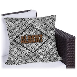 """Diamond Plate Outdoor Pillow - 20"""" (Personalized)"""