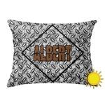 Diamond Plate Outdoor Throw Pillow (Rectangular) (Personalized)