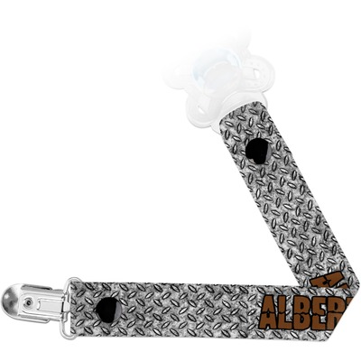 Diamond Plate Pacifier Clips (Personalized)
